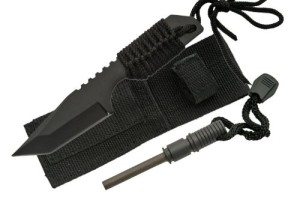 Full Tang Tanto Hunting Knife with Fire Starter