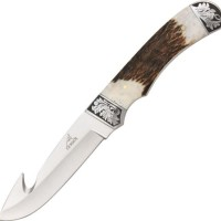 Gerber 22-01842 Wallowa Stag Fixed Blade Knife With Gut Hook