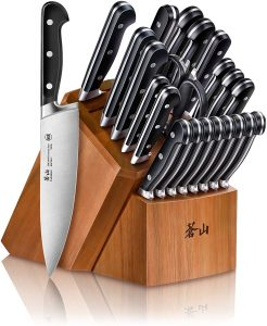Cangshan V2 Series 1024128 German Steel Forged 23-Piece Knife Block Set